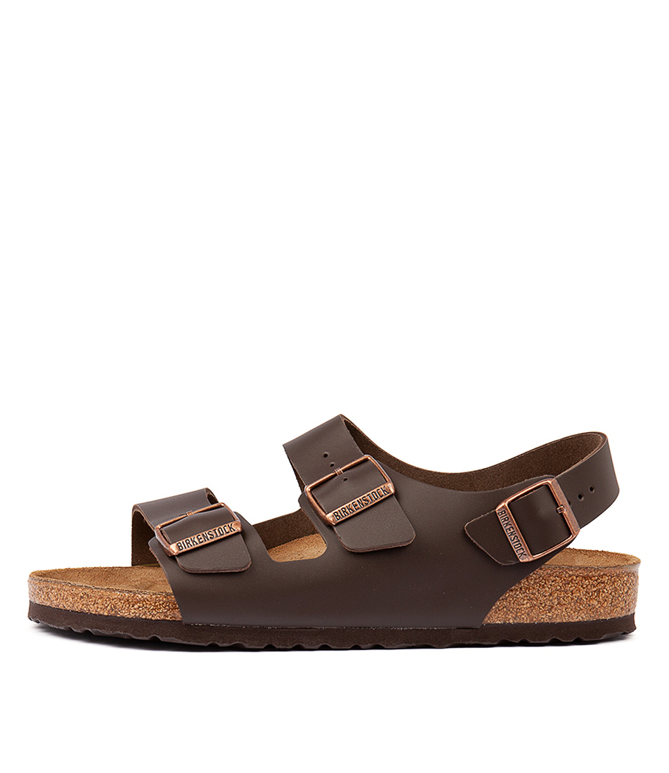 d3af75b18d9 Details about New Birkenstock Milano Bk Dark Brown Mens Shoes Casual  Sandals Sandals Flat