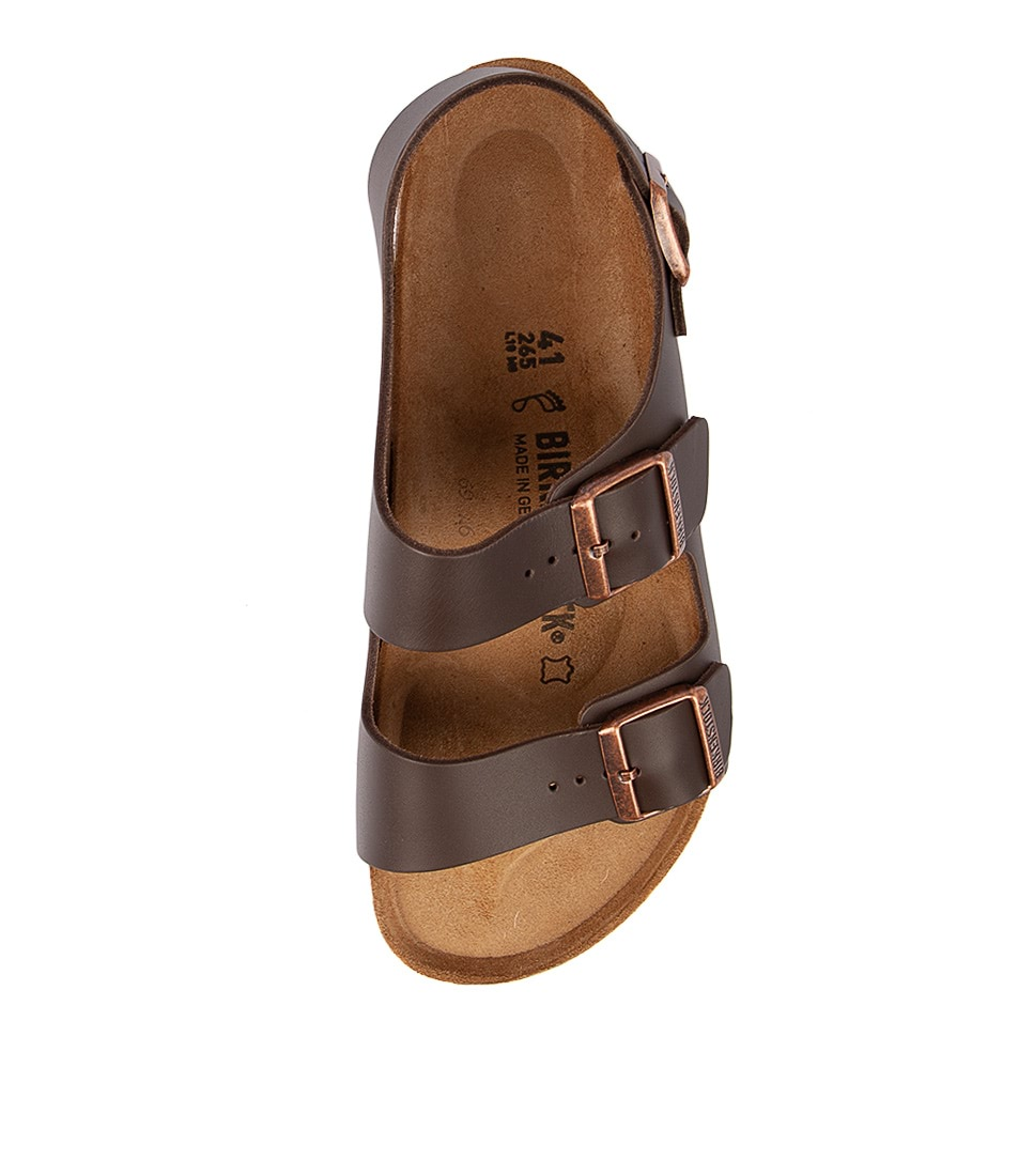90d2ff23a22 New Birkenstock Milano Bk Dark Brown Mens Shoes Casual Sandals Sandals Flat