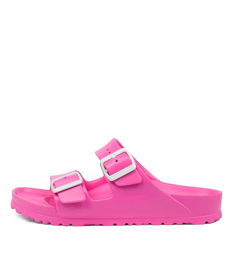 Buy Birkenstock Arizona Eva Neon Pink Flat Sandals online with free shipping