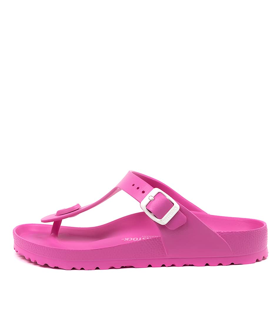 Buy Birkenstock Gizeh Eva Neon Pink Flat Sandals online with free shipping