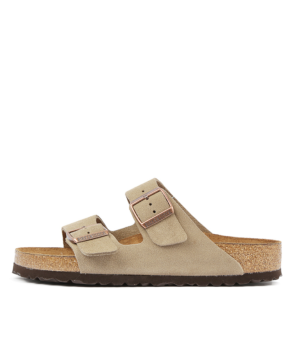 Buy Birkenstock Arizona Sfb Taupe Flat Sandals online with free shipping