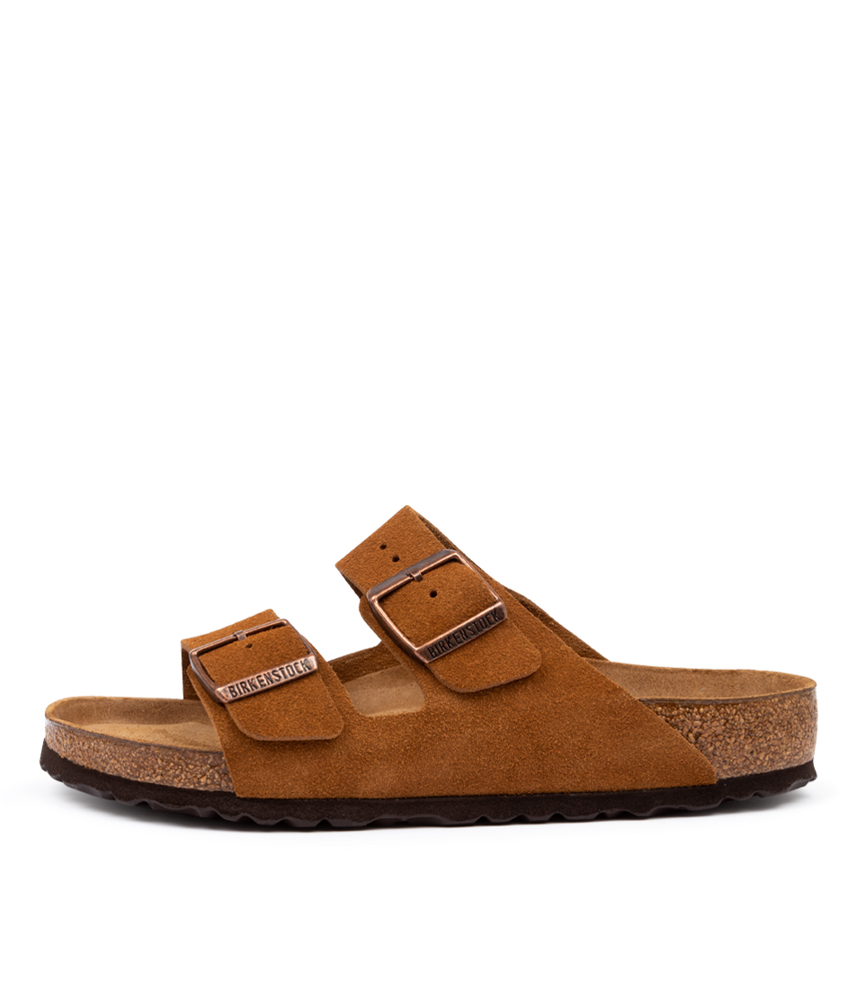 Buy Birkenstock Arizona Sfb Mink Flat Sandals online with free shipping