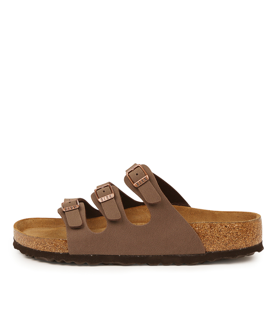 Buy Birkenstock Florida Sfb Mocca Flat Sandals online with free shipping