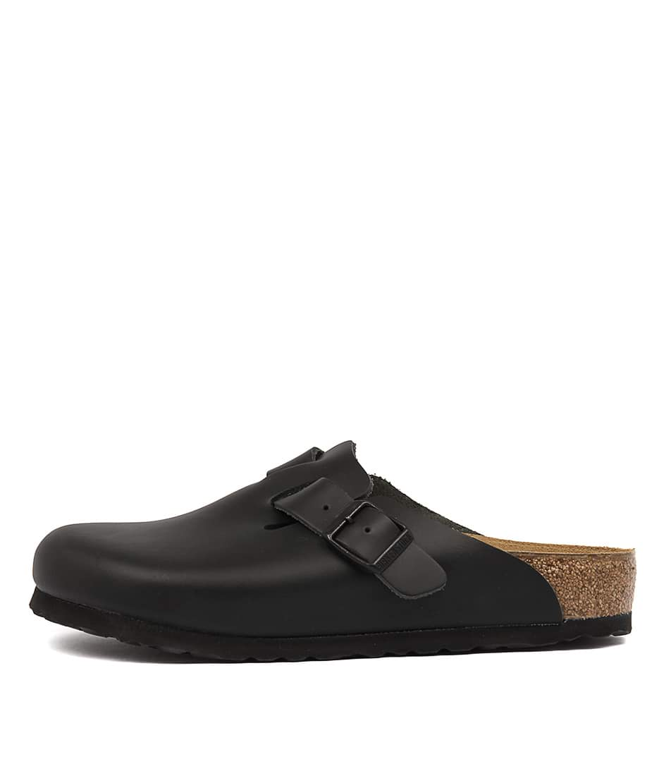 Buy Birkenstock Boston Black Flats online with free shipping