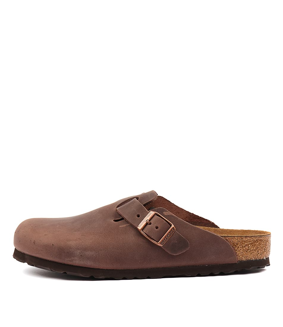 Buy Birkenstock Boston Habana Flats online with free shipping