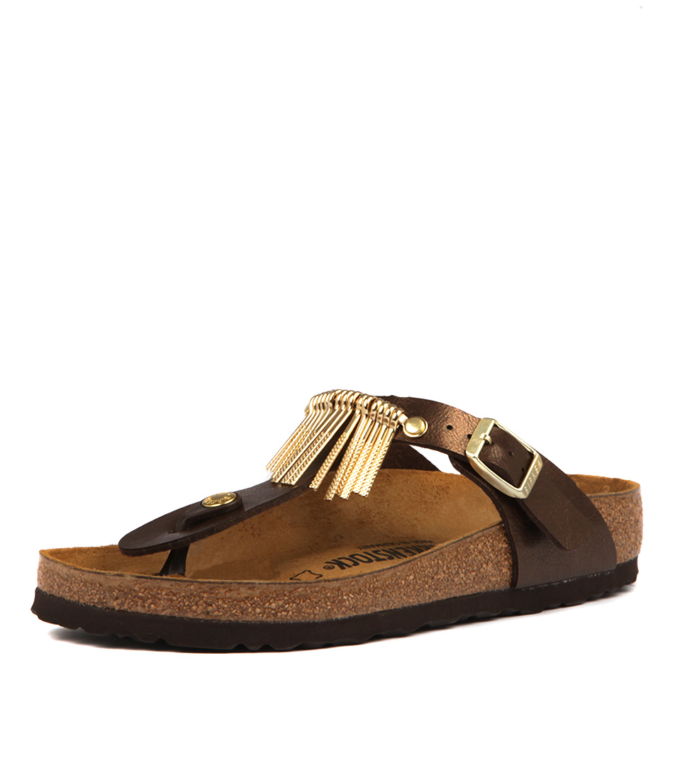 Birkenstock Gizeh Fringe Graceful Toffee Sandals
