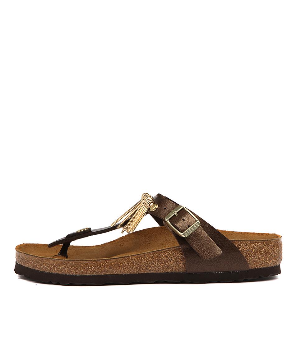Birkenstock Gizeh Fringe Graceful ToffeeFlat Sandals