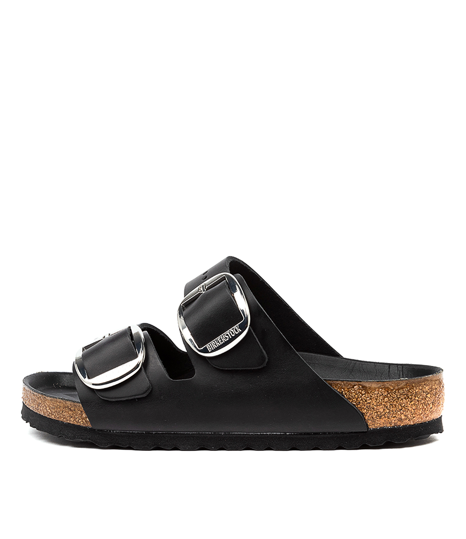 Buy Birkenstock Arizona Big Buckle Black Flat Sandals online with free shipping