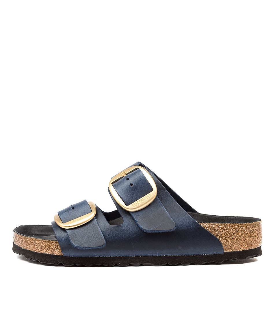 Buy Birkenstock Arizona Big Buckle Blue Flat Sandals online with free shipping