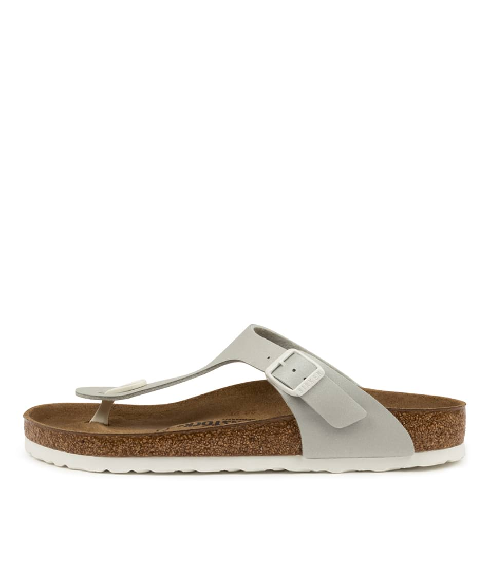 Buy Birkenstock Gizeh Icy Metallic Bk Mineral White S Flat Sandals online with free shipping