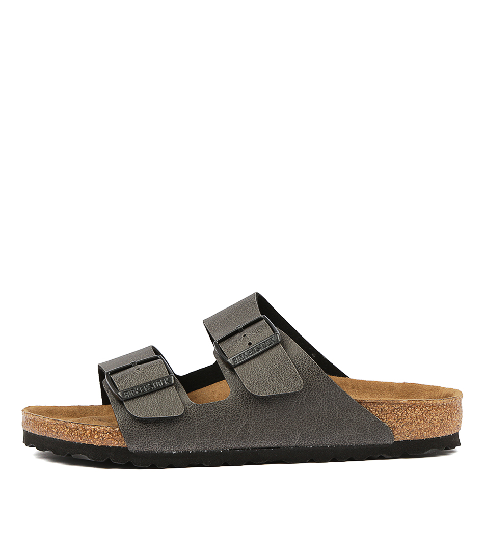 Buy Birkenstock Arizona Pull Up Bk Anthracite Flat Sandals online with free shipping
