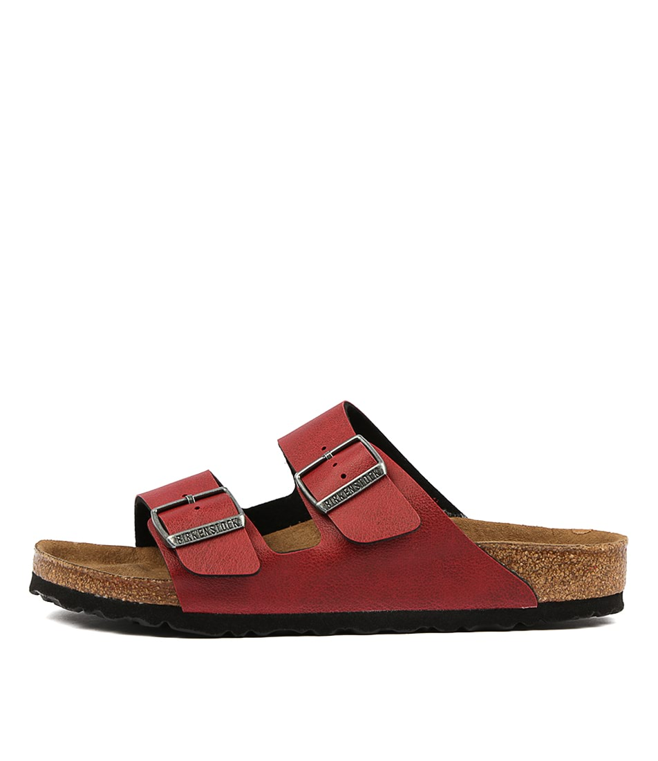 Buy Birkenstock Arizona Pull Up Bk Bordeaux Flat Sandals online with free shipping