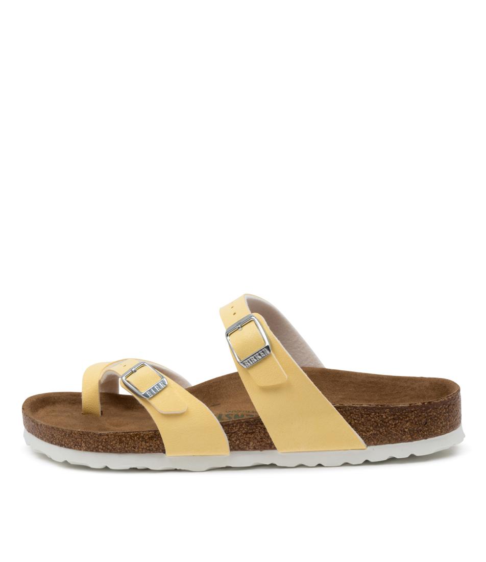 Buy Birkenstock Mayari Vegan Bk Vanilla Flat Sandals online with free shipping