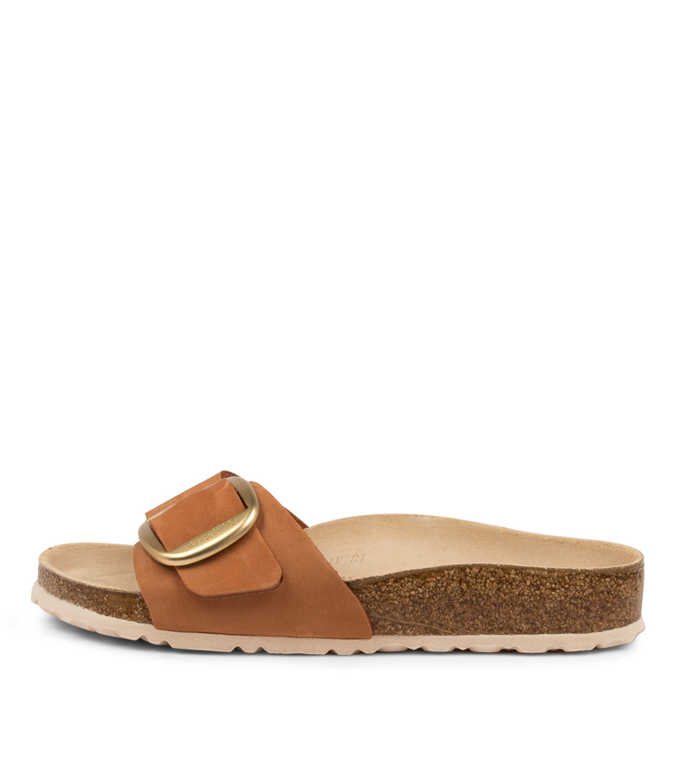 Buy Birkenstock Madrid Big Buckle Nu W Bk Brandy Flat Sandals online with free shipping