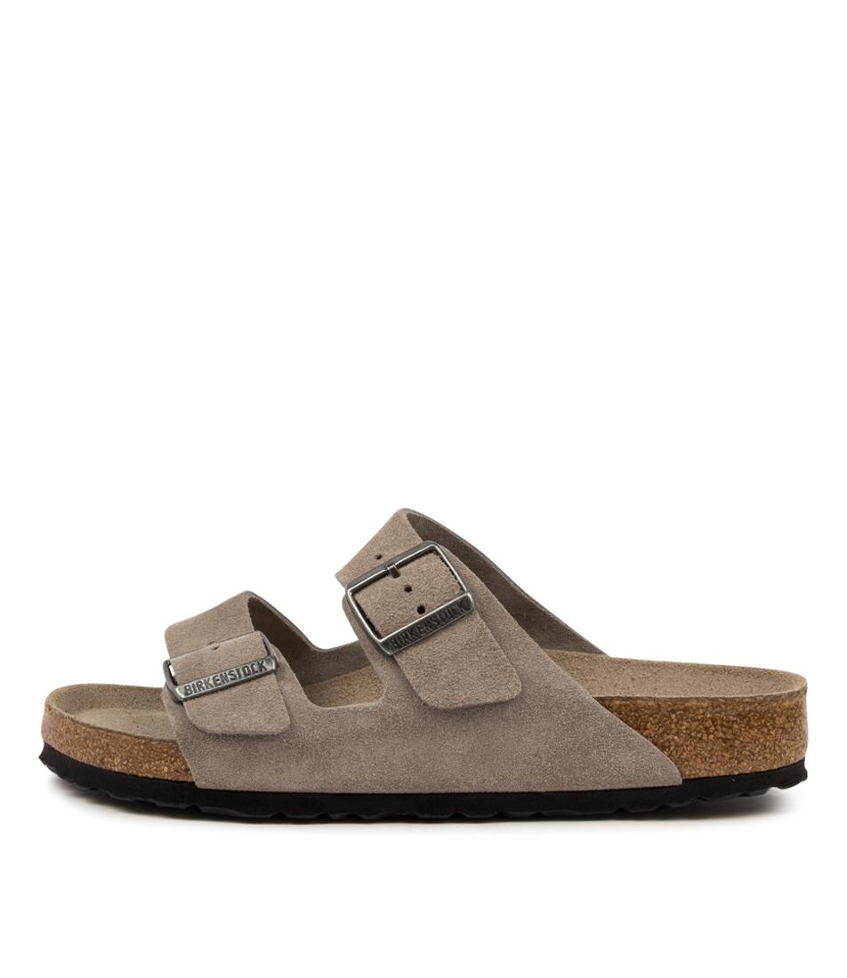 Buy Birkenstock Arizona Sfb Su W Bk Stone Coin Flat Sandals online with free shipping