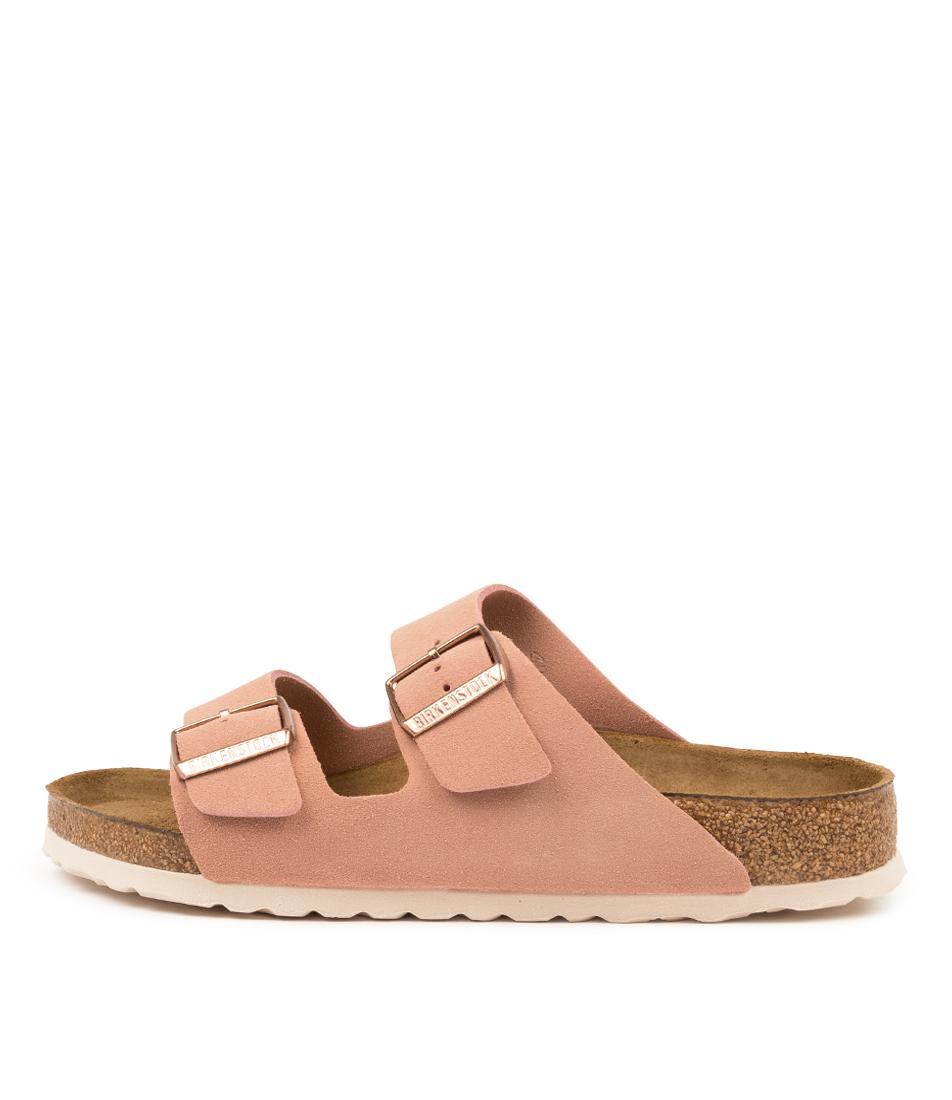 Buy Birkenstock Arizona Sfb Su W Bk Lt Rose White Sole Flat Sandals online with free shipping