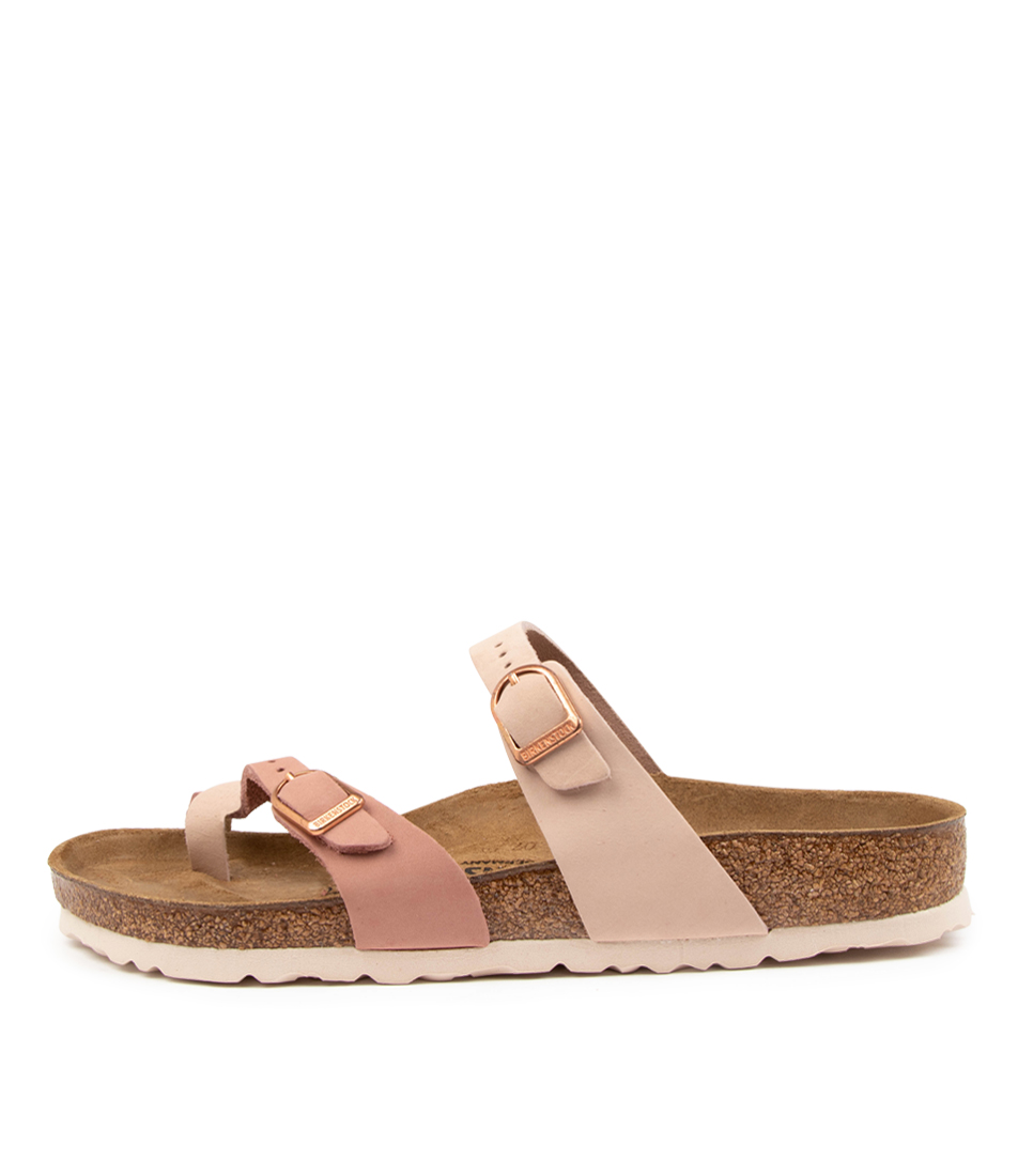 Buy Birkenstock Mayari Contrast Nu W Bk Rose Old Rose W Flat Sandals online with free shipping