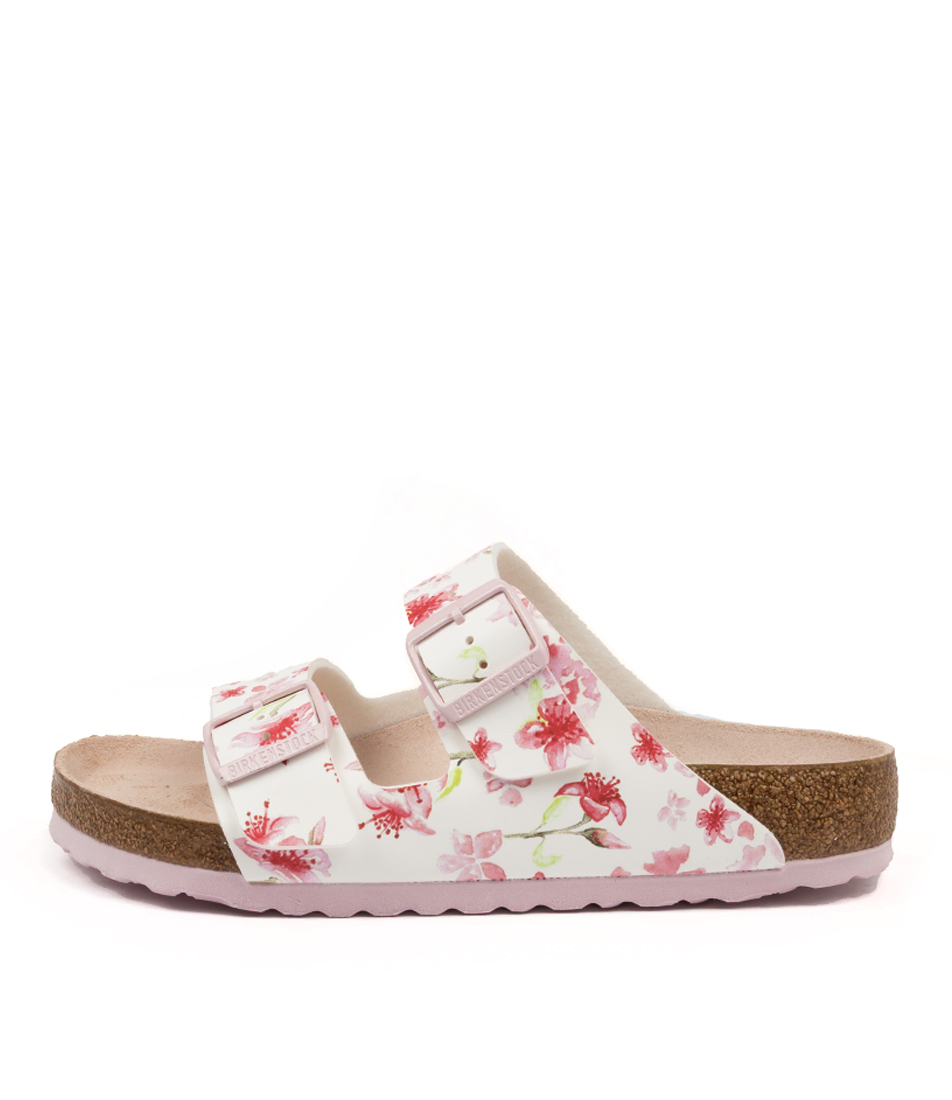 Buy Birkenstock Arizona Blossom White Sole Flat Sandals online with free shipping