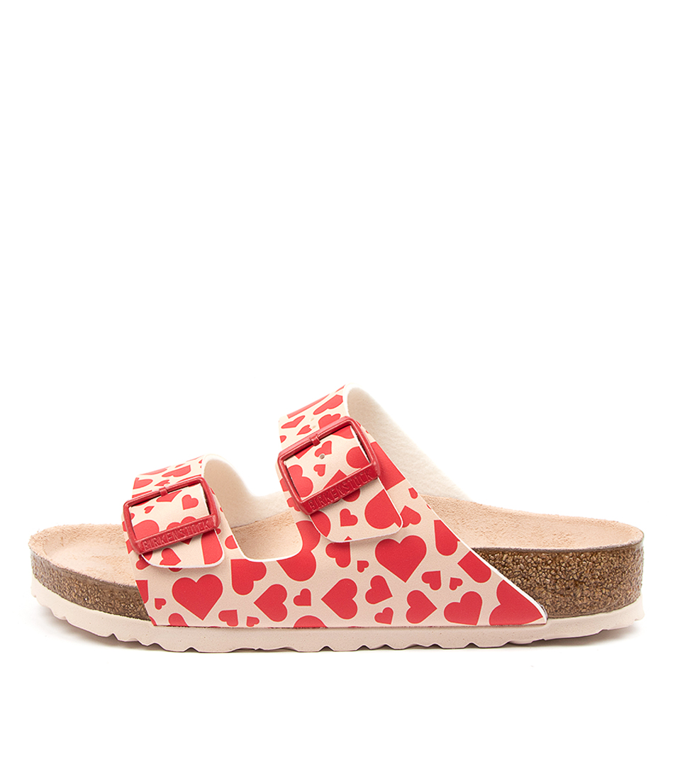Buy Birkenstock Arizona Hearts Bf W Bk Hearts Red Whit Flat Sandals online with free shipping