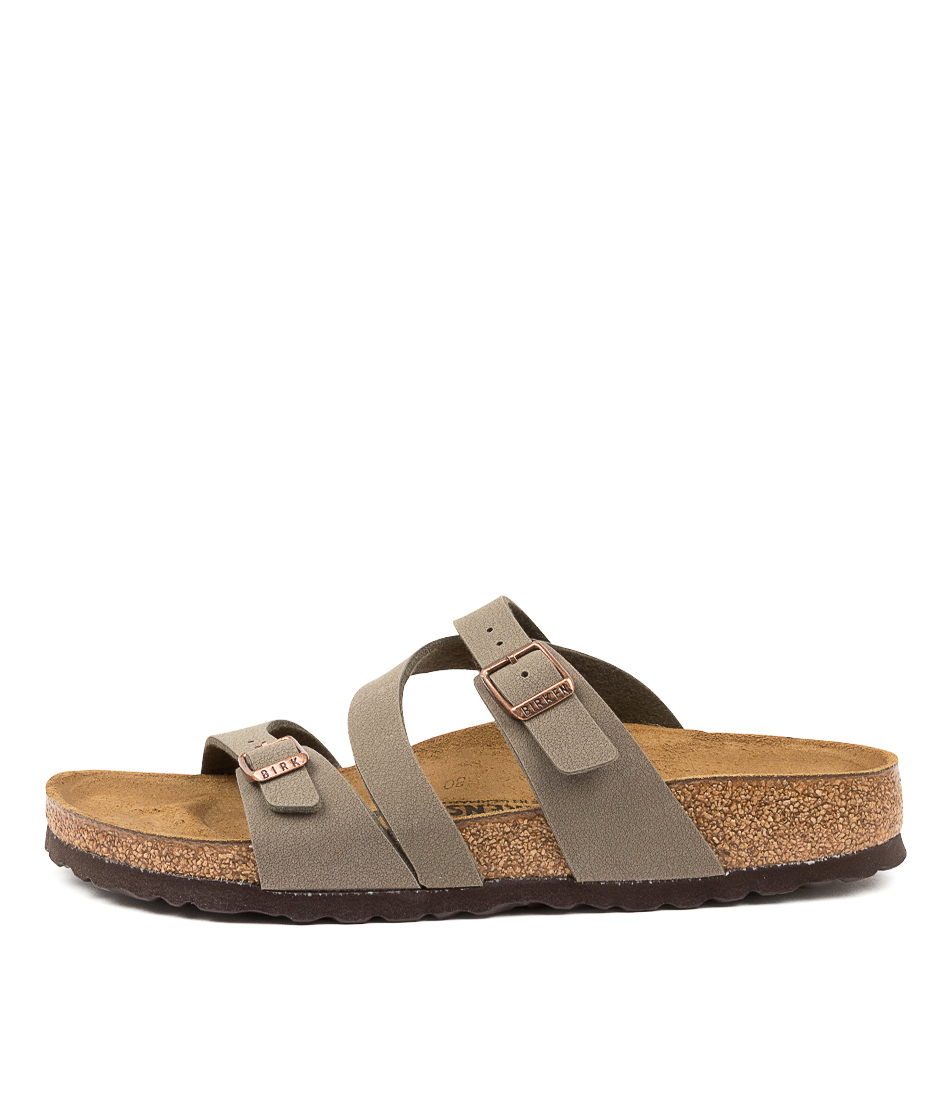Buy Birkenstock Salina Narrow W Bk Stone Flat Sandals online with free shipping