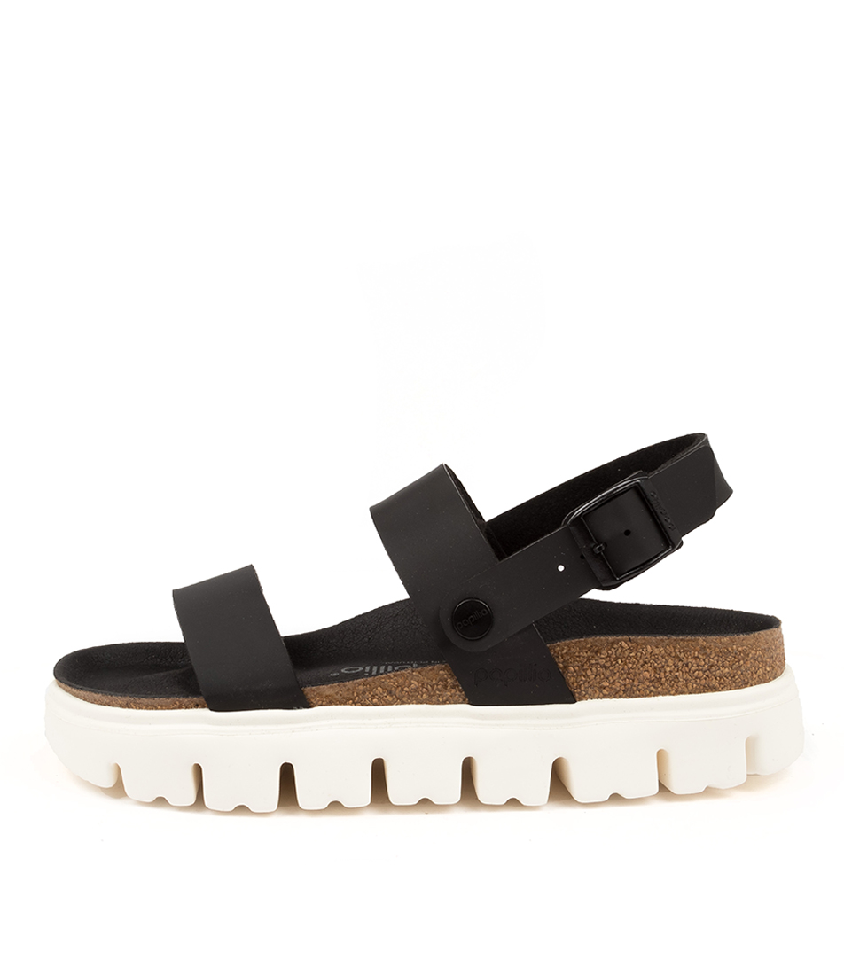 Buy Birkenstock Cameron Chunky Bk Black White Sole Flat Sandals online with free shipping