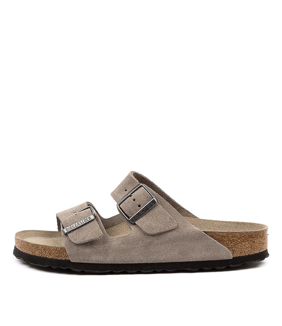 Buy Birkenstock Arizona Sfb Su Narrow W Bk Stone Coin Flat Sandals online with free shipping