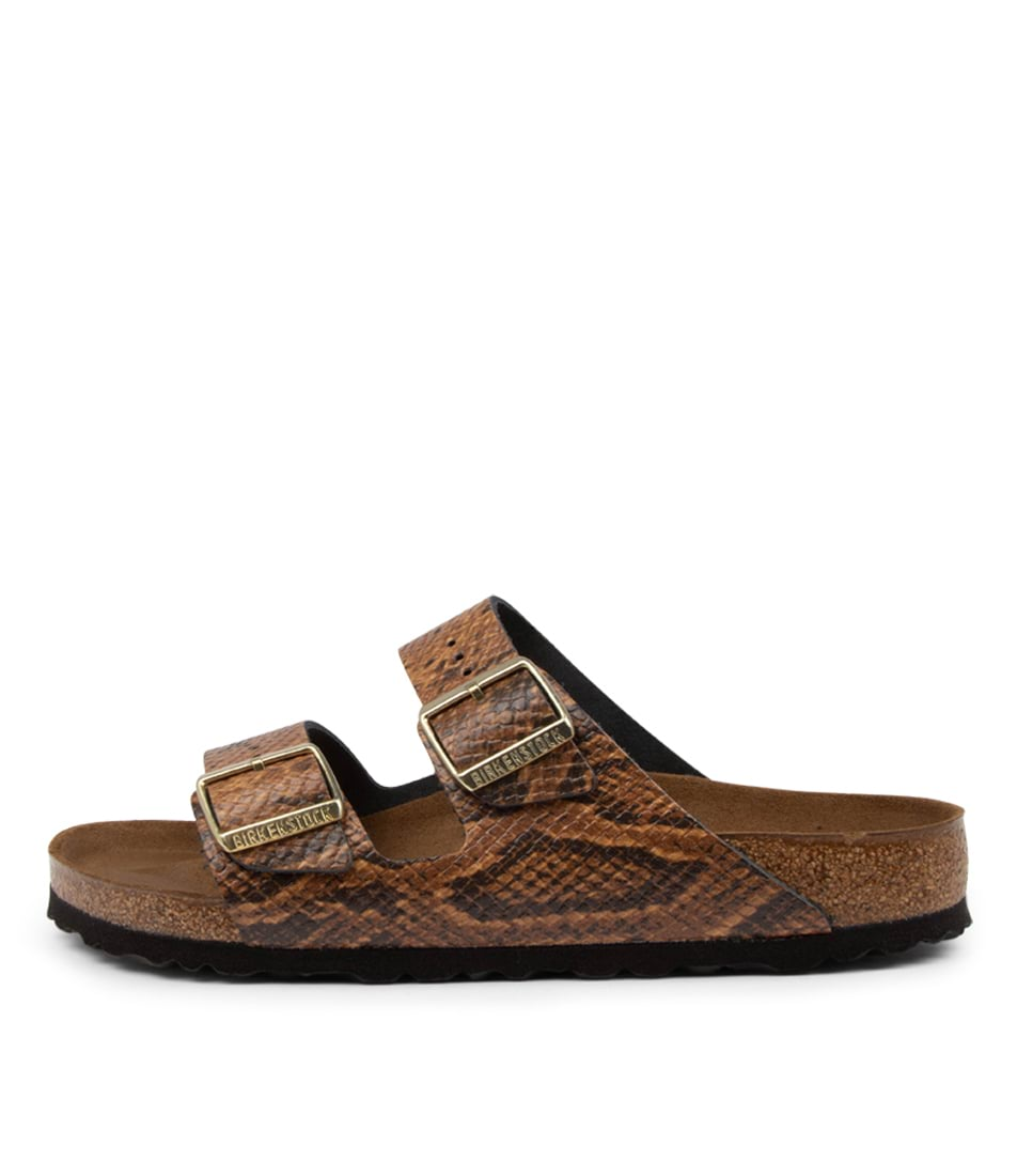 Buy Birkenstock Arizona Snake W Bk Brown Flat Sandals online with free shipping
