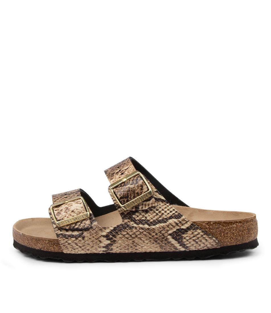 Buy Birkenstock Arizona Snake W Bk Beige Flat Sandals online with free shipping