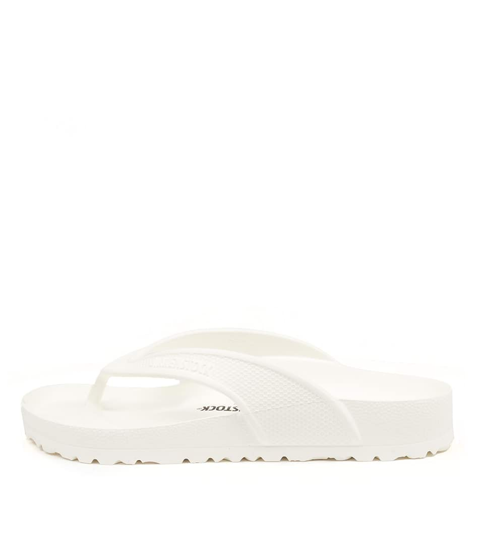 Buy Birkenstock Honolulu Bk White Flat Sandals online with free shipping
