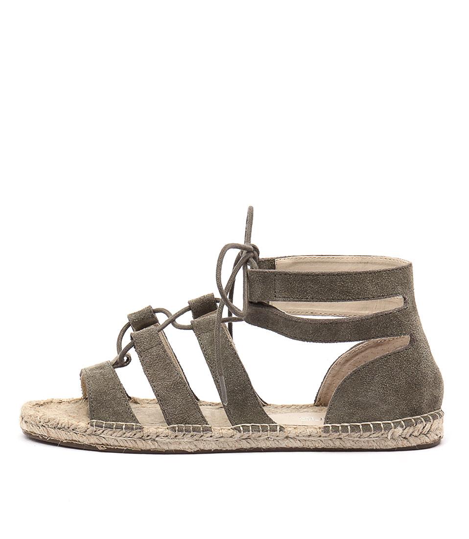 Bonbons Jillian Khaki Sandals