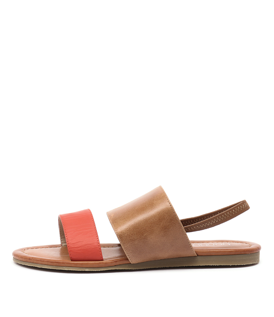 Bonbons Raddler Tan Multi Casual Flat Sandals
