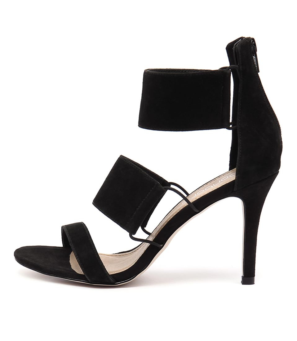 Bonbons Tease Black Dress Heeled Sandals