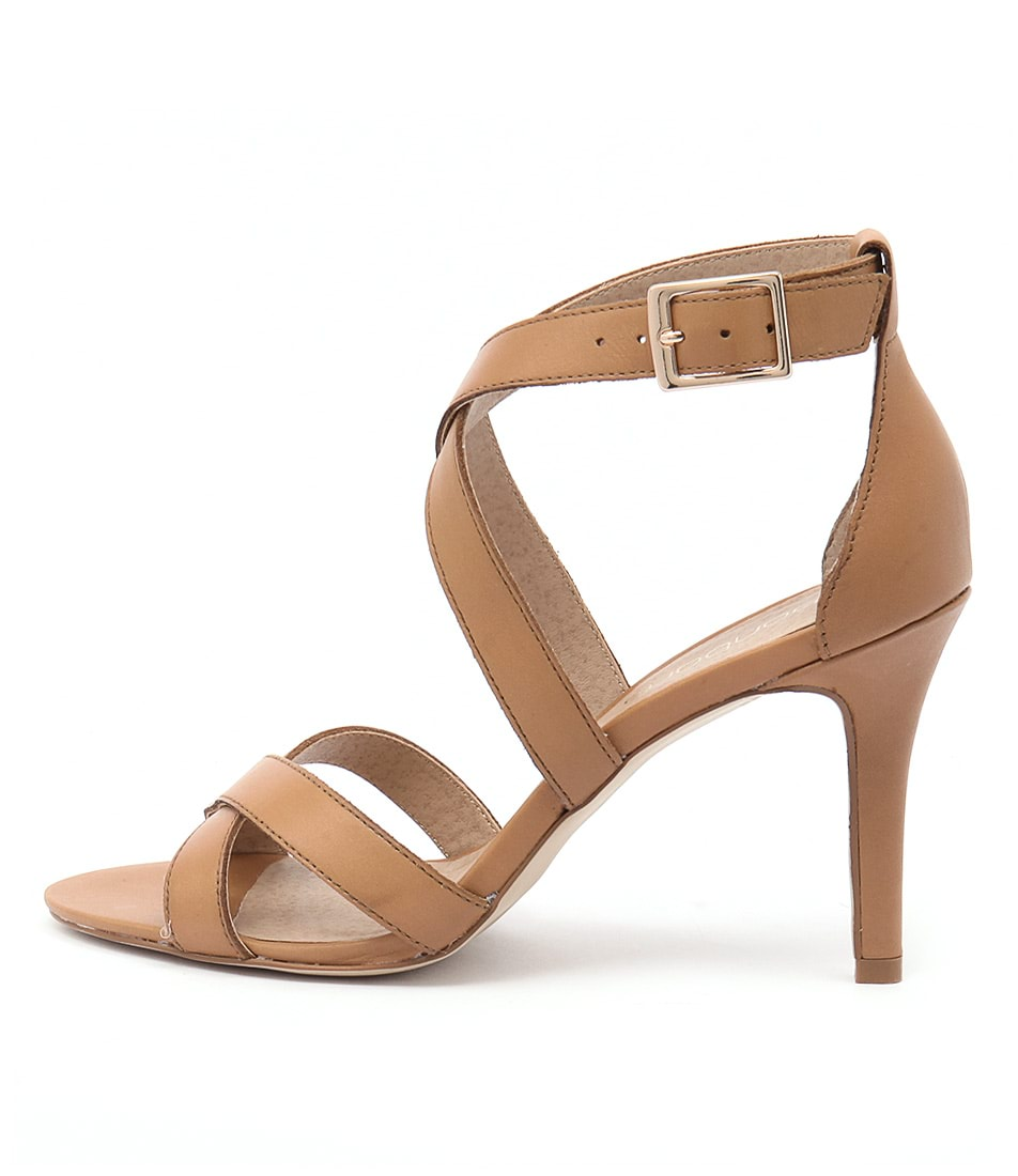Bonbons Tahara Camel Dress Heeled Sandals