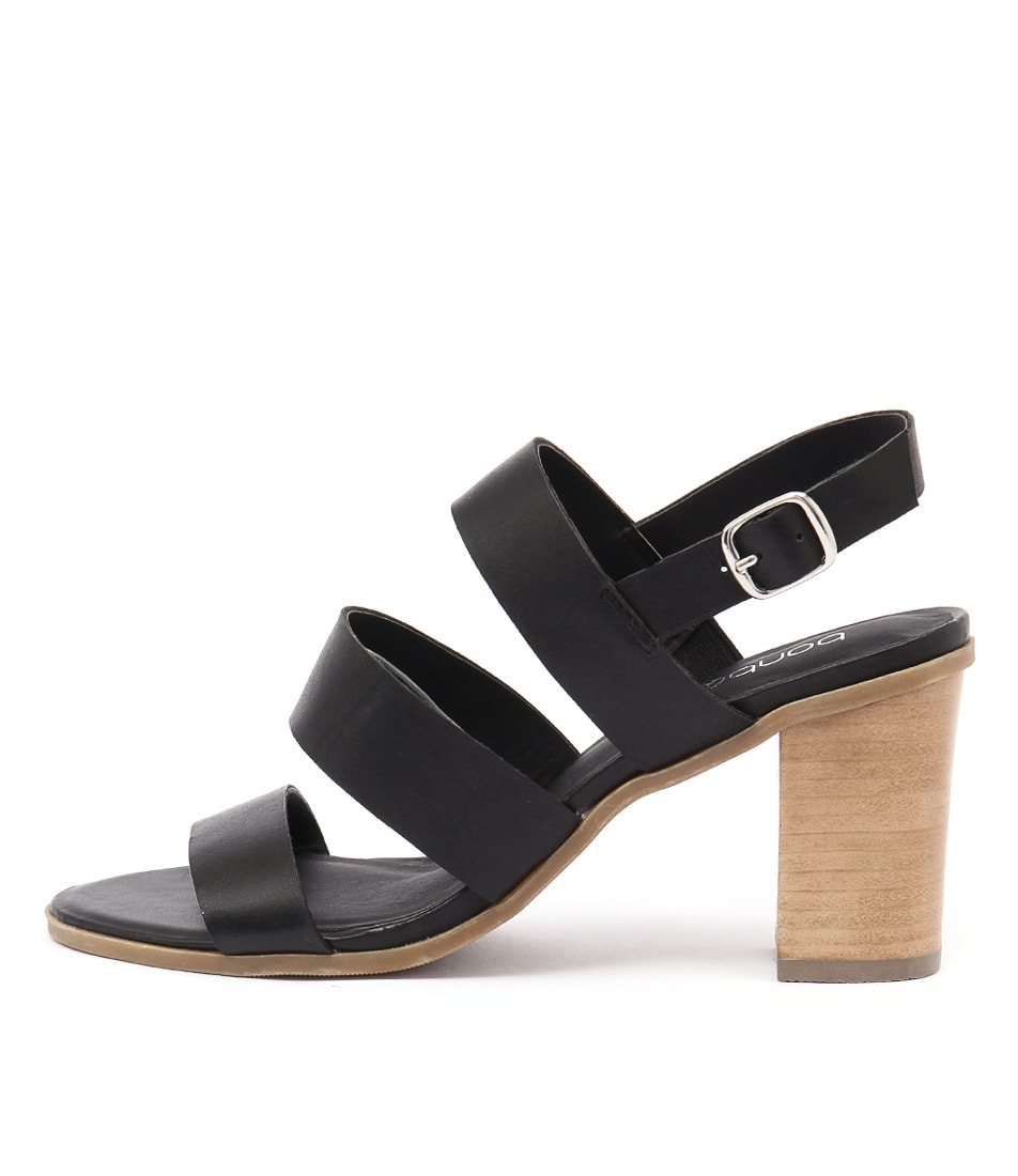 Bonbons Meeka Black Dress Heeled Sandals