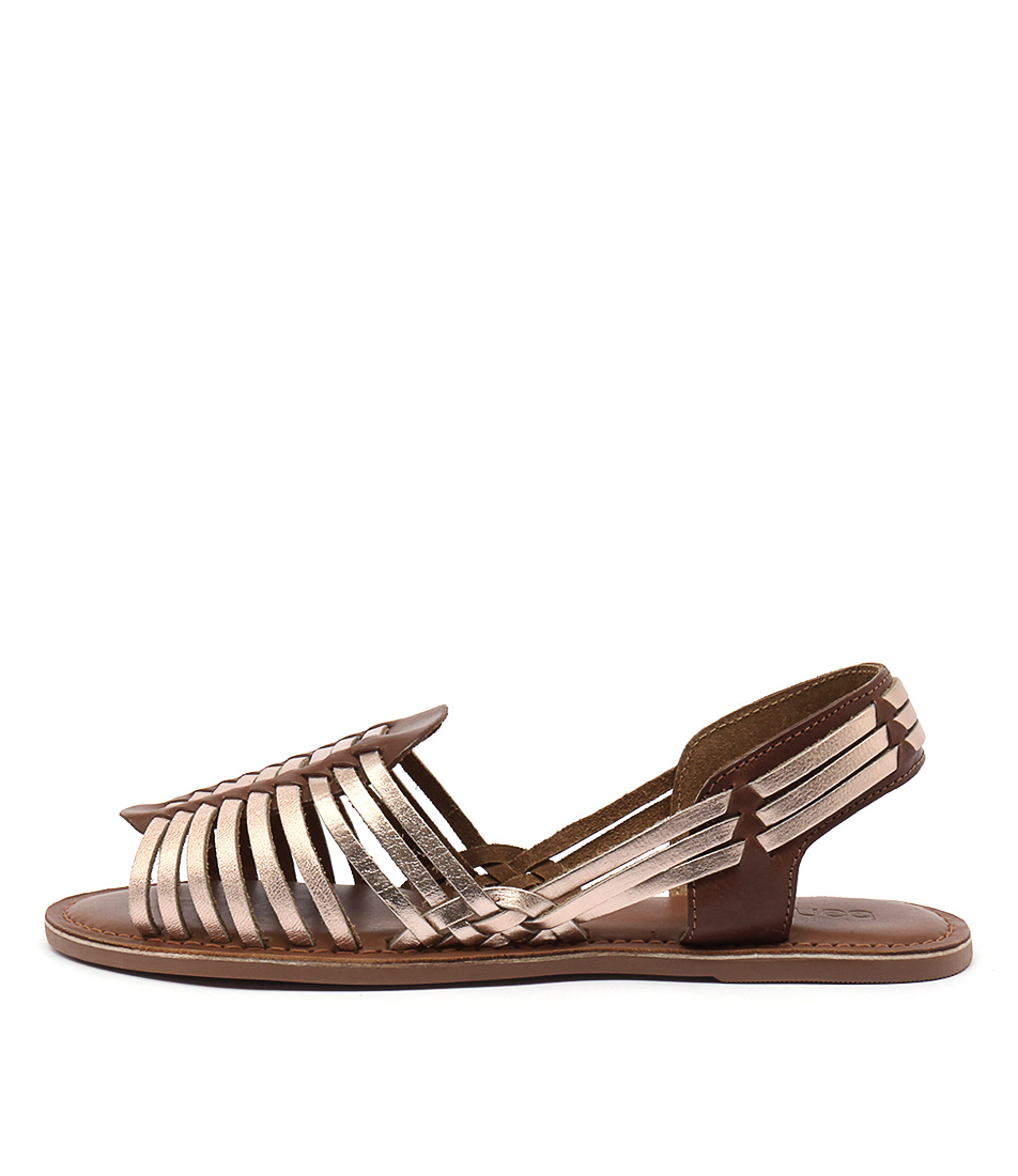 Bonbons Geneva Rose Gold Multi Casual Flat Sandals