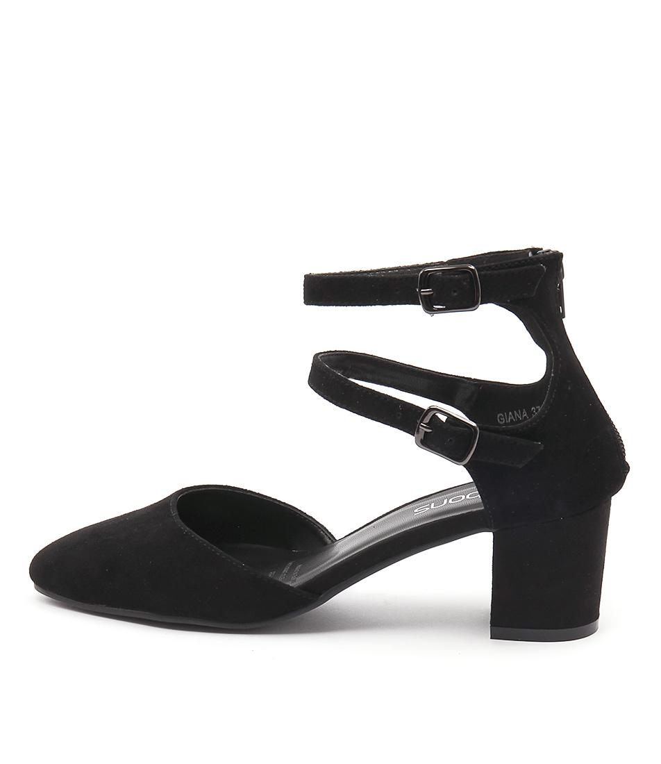 Bonbons Giana Black Dress Heeled Shoes