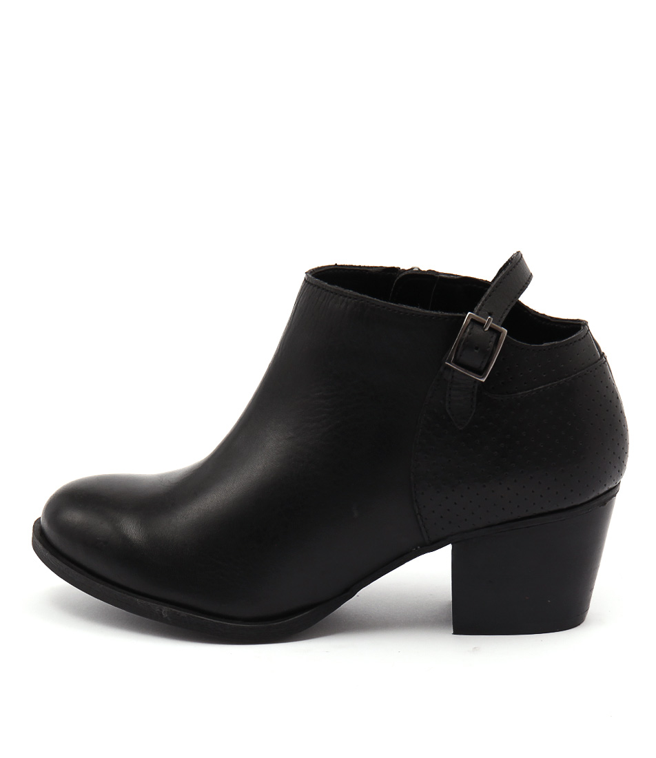Bonbons Audrie Black Dress Ankle Boots