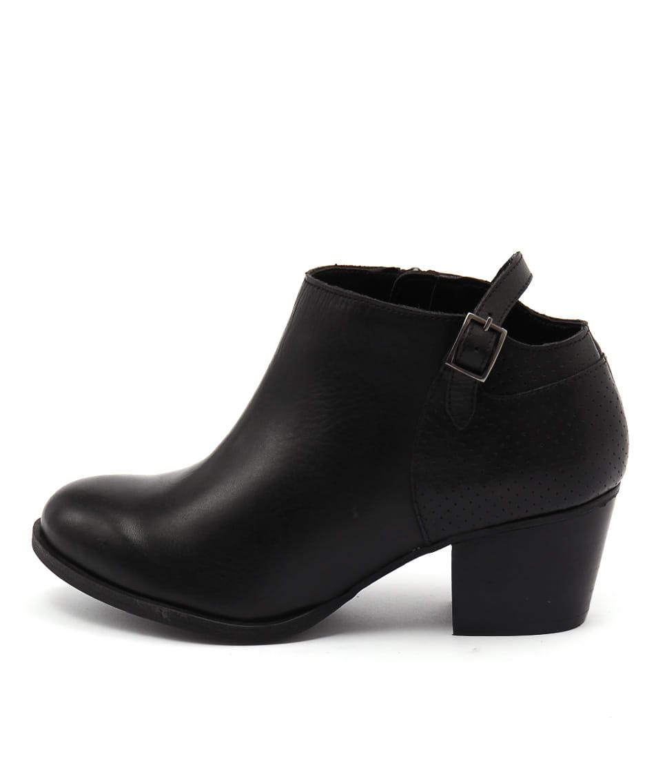 Bonbons Audrie Black Dress Ankle Boots