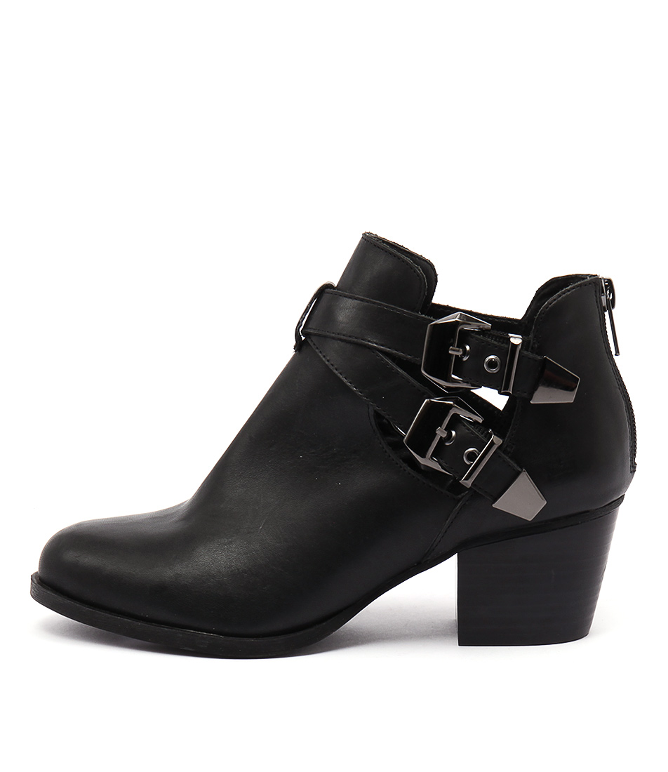 Bonbons Akira Black Dress Ankle Boots