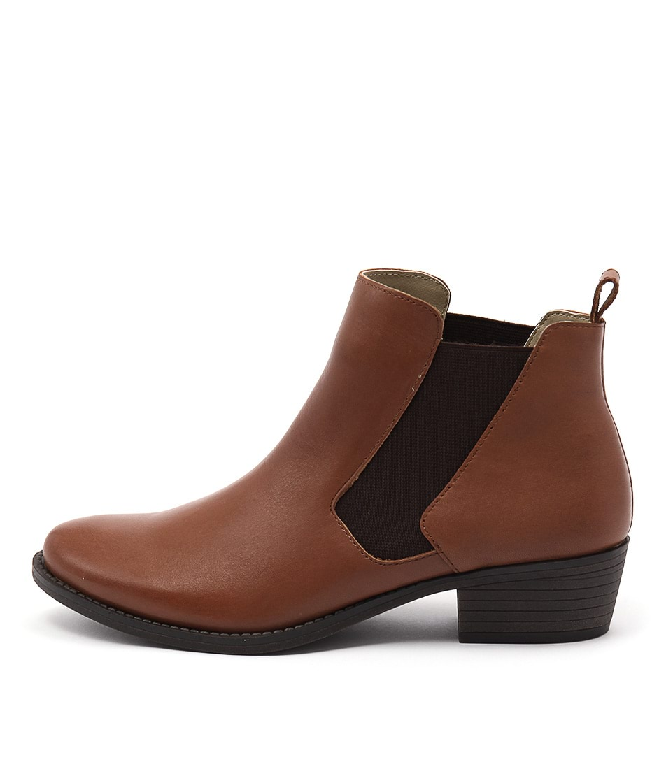 Bonbons Wilson Cognac Dress Ankle Boots