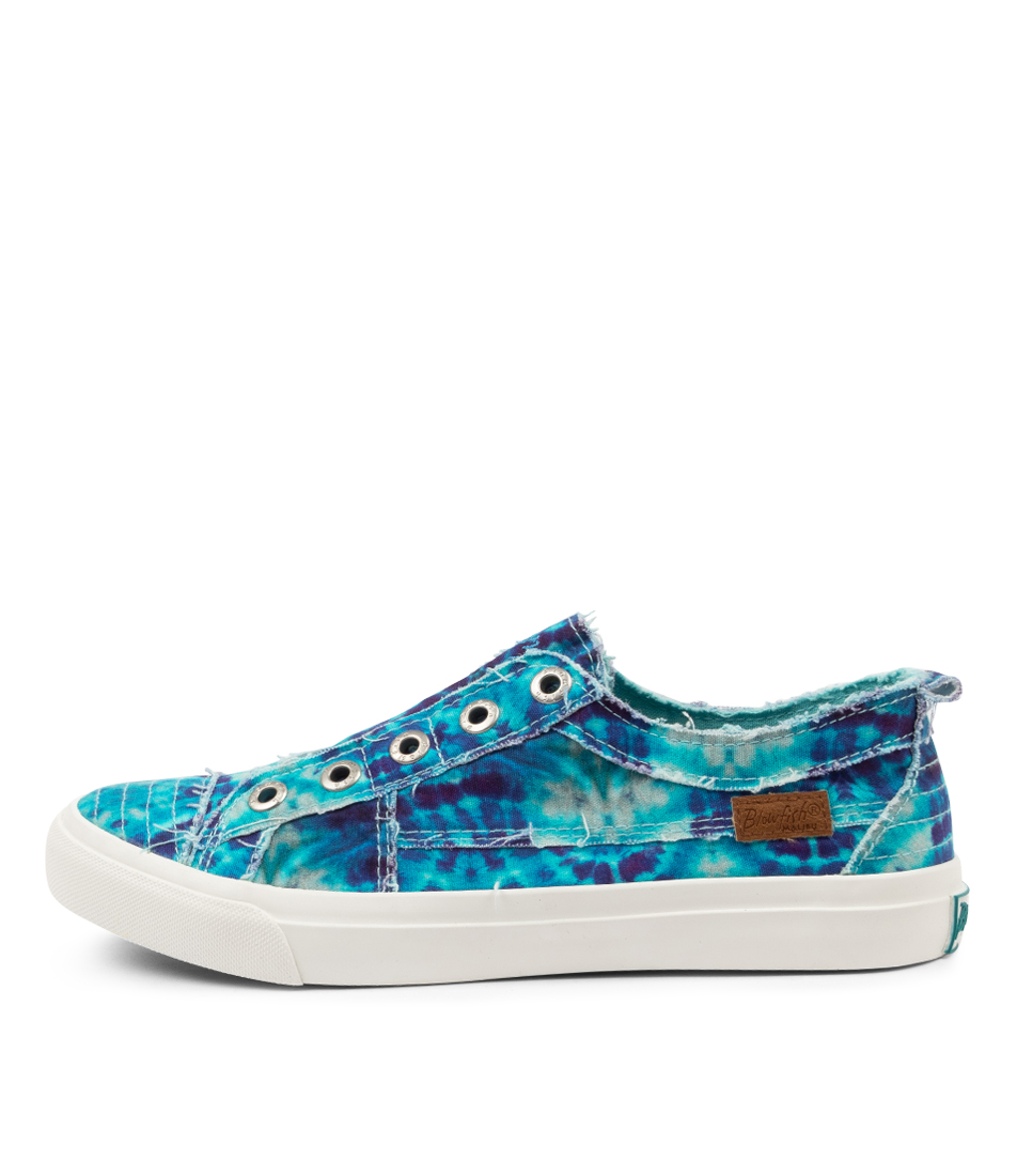 Buy Blowfish Play Bw Turquoise Tie Dye Sneakers online with free shipping