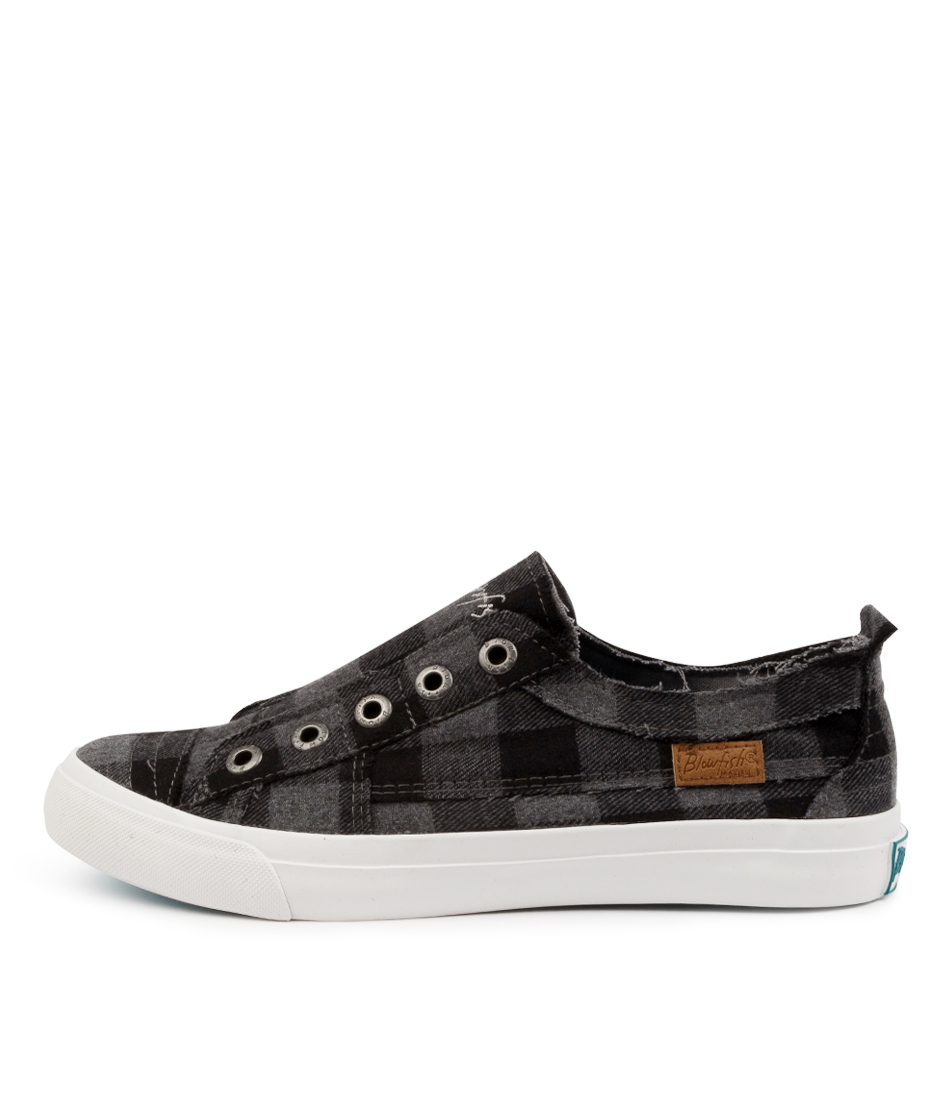 Buy Blowfish Play Bw Grey Buffalo Check Sneakers online with free shipping