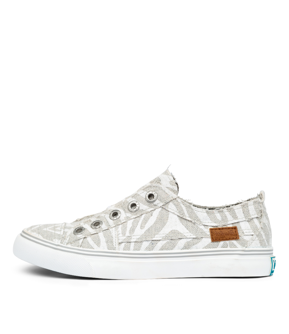 Buy Blowfish Play Bw Off White Zebra Print Sneakers online with free shipping