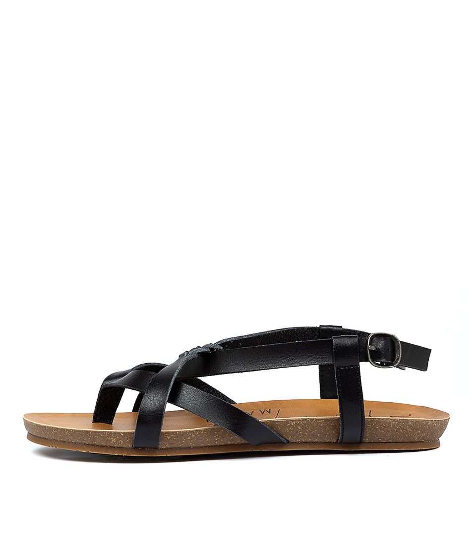Buy Blowfish Granola B Black Flat Sandals online with free shipping