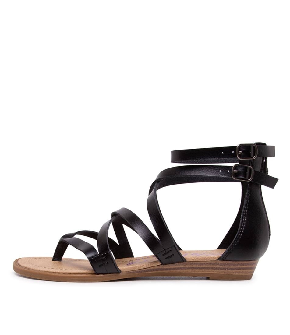Buy Blowfish Bungalow Black Flat Sandals online with free shipping