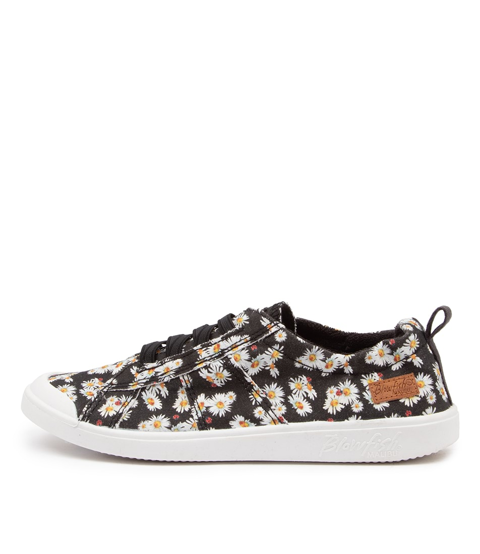 Buy Blowfish Vex Bw Black Lazy Daisy Print Sneakers online with free shipping