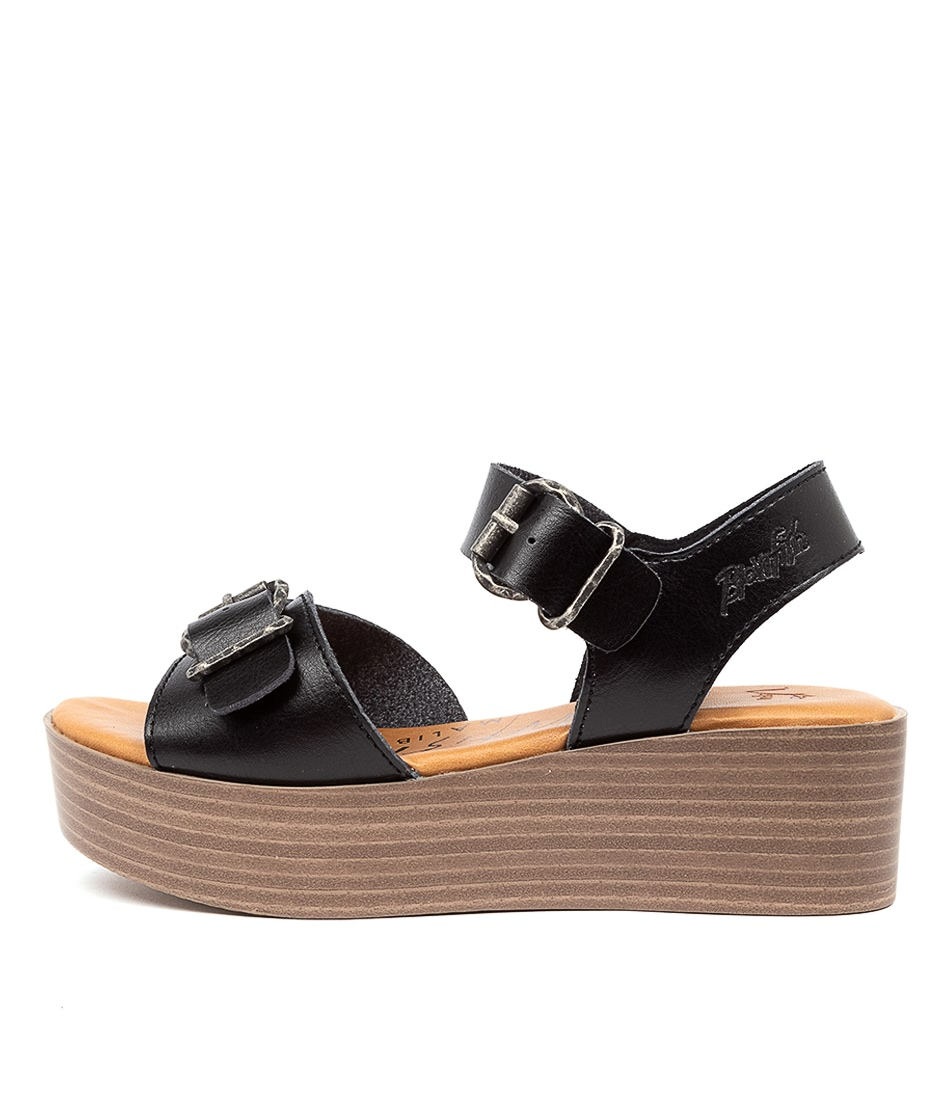 Buy Blowfish Leeds Bw Black Flat Sandals online with free shipping
