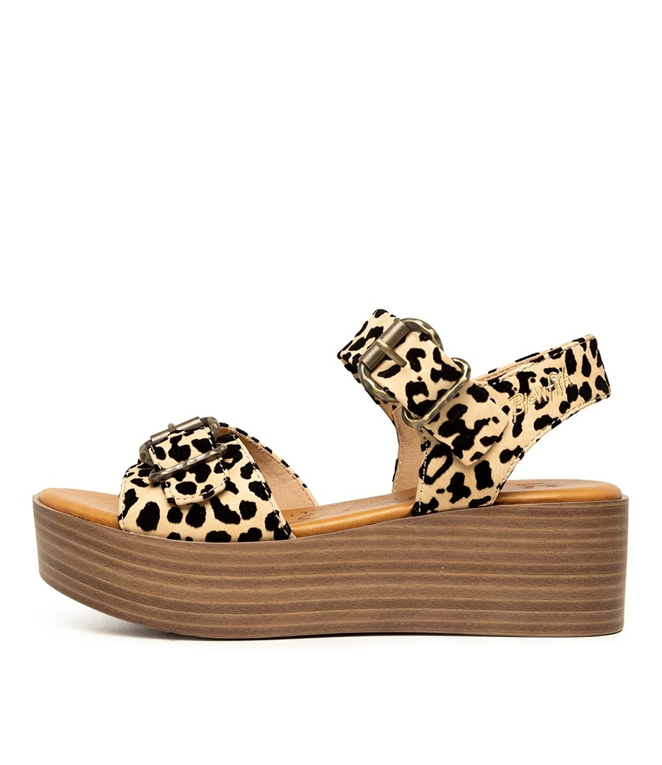 Buy Blowfish Leeds Bw Natural Leopard Sandals online with free shipping