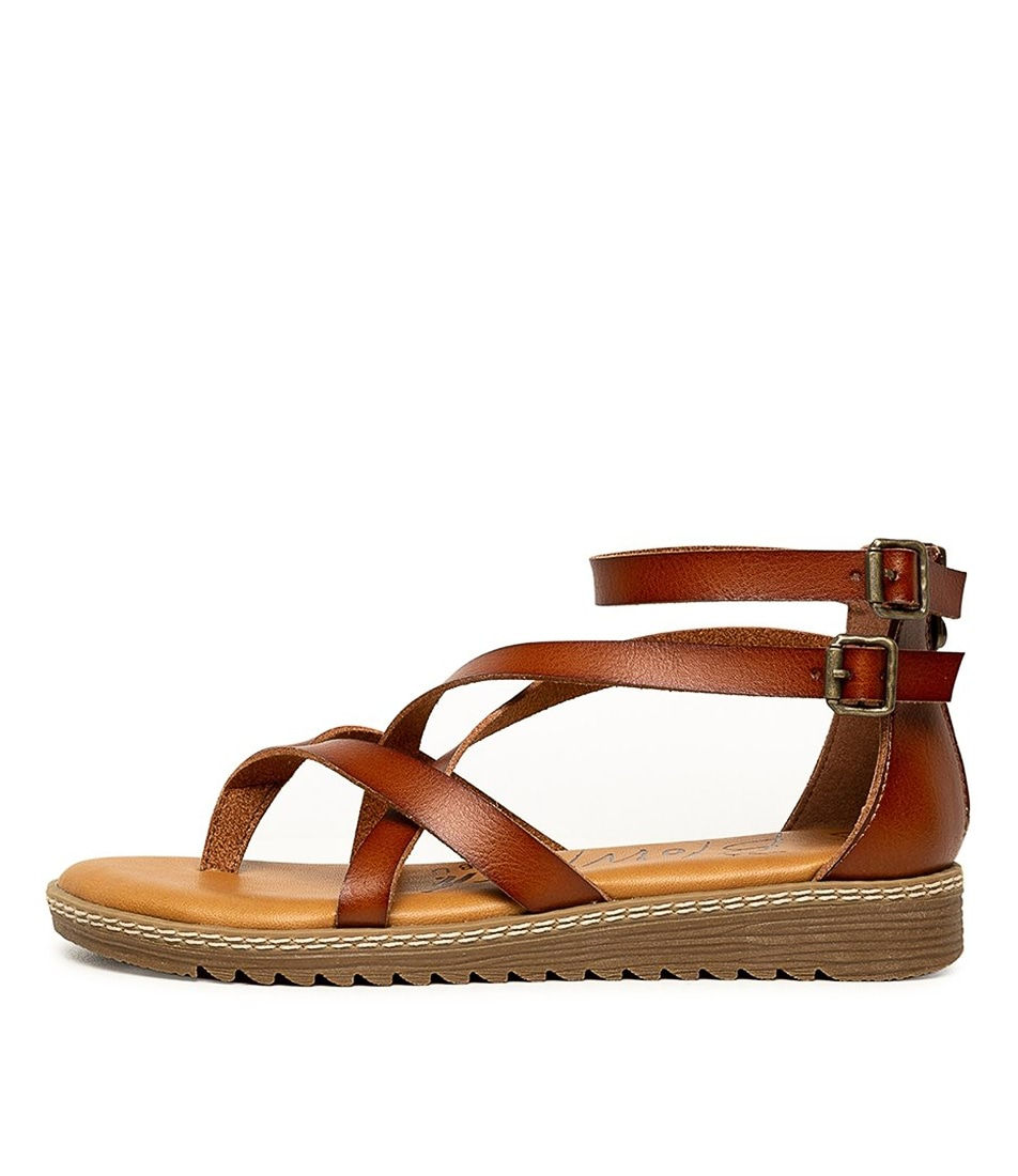 Buy Blowfish Ohio Bw Scotch Flat Sandals online with free shipping