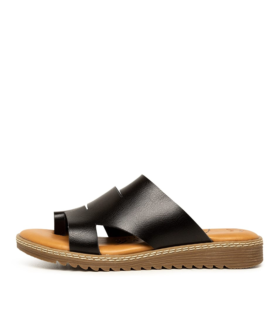 Buy Blowfish Okra Bw Black Flat Sandals online with free shipping
